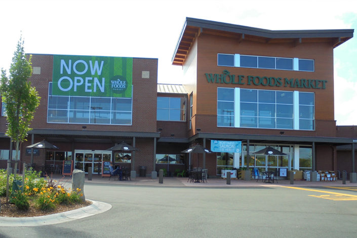 Structural Steel Fabrication - Whole Foods Grocery, Bellingham WA.