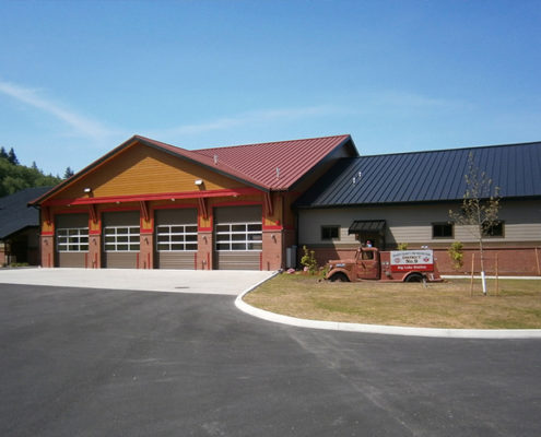 Structural Steel Fabrication - Big Lake Fire Station