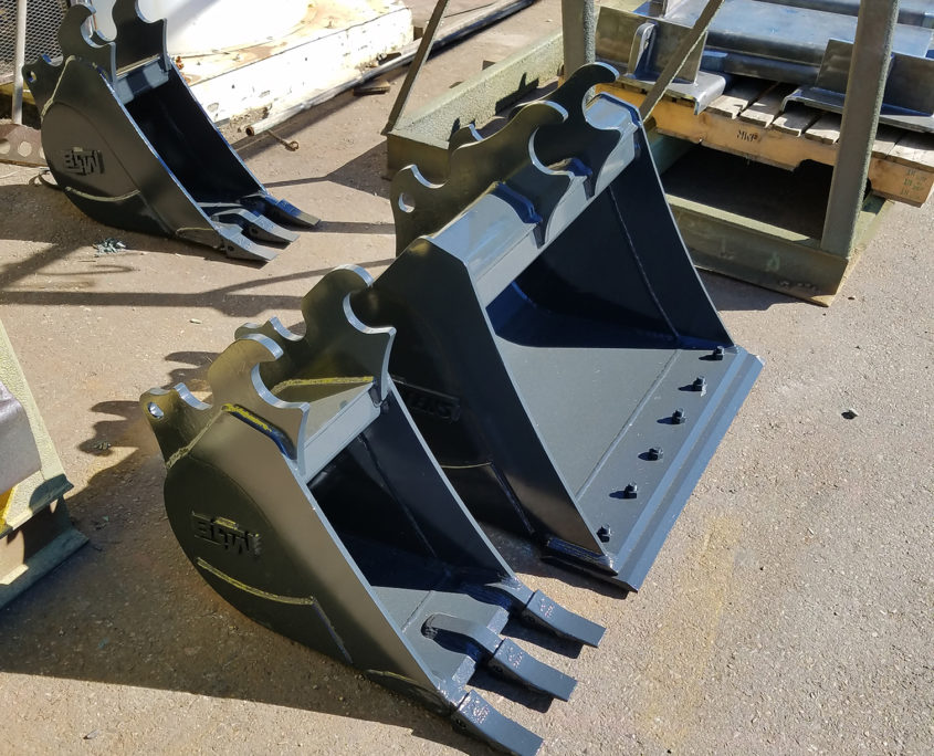 Mini-excavator bucket fabrication